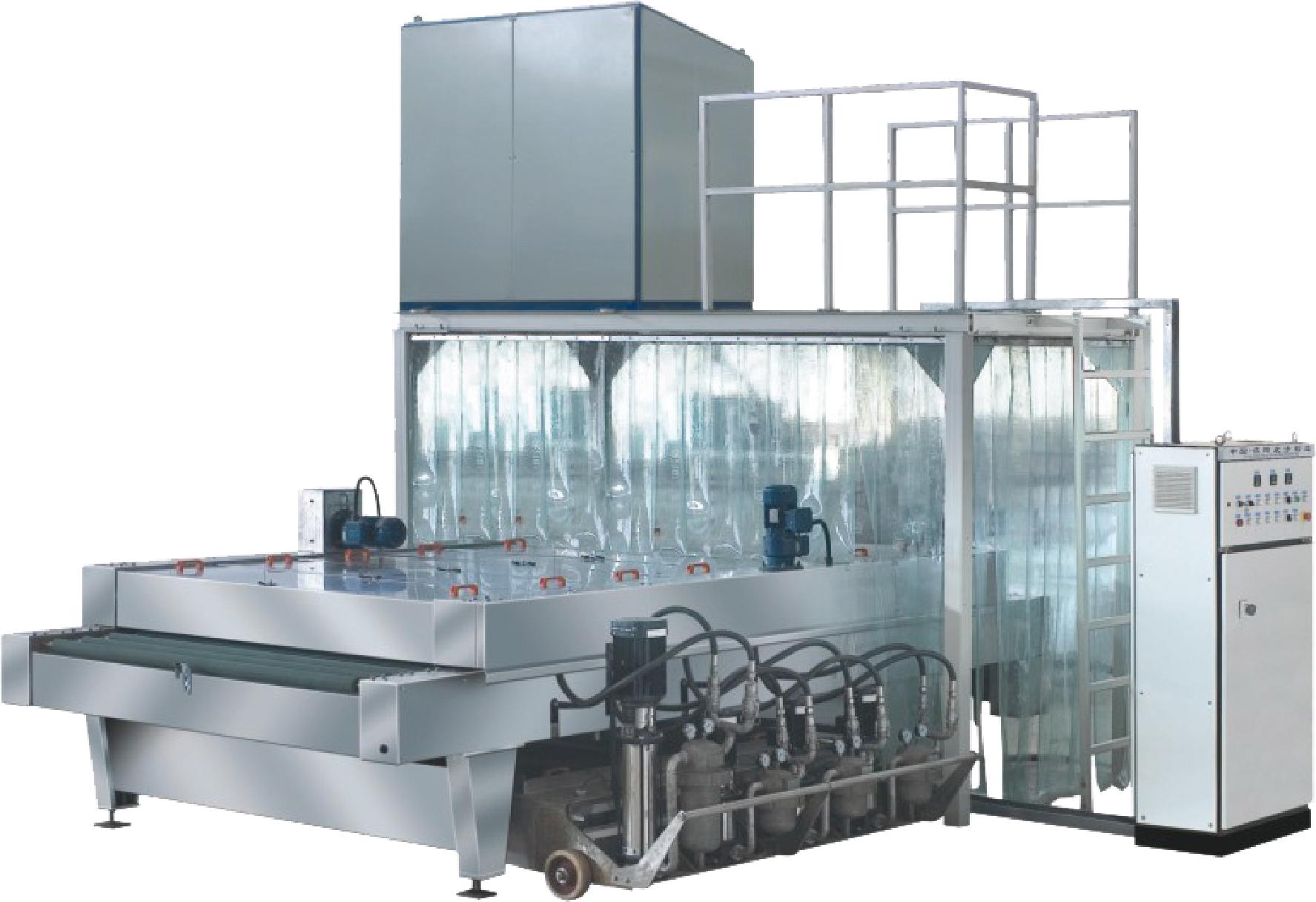 QX15B Auto Glass washing and drying machine