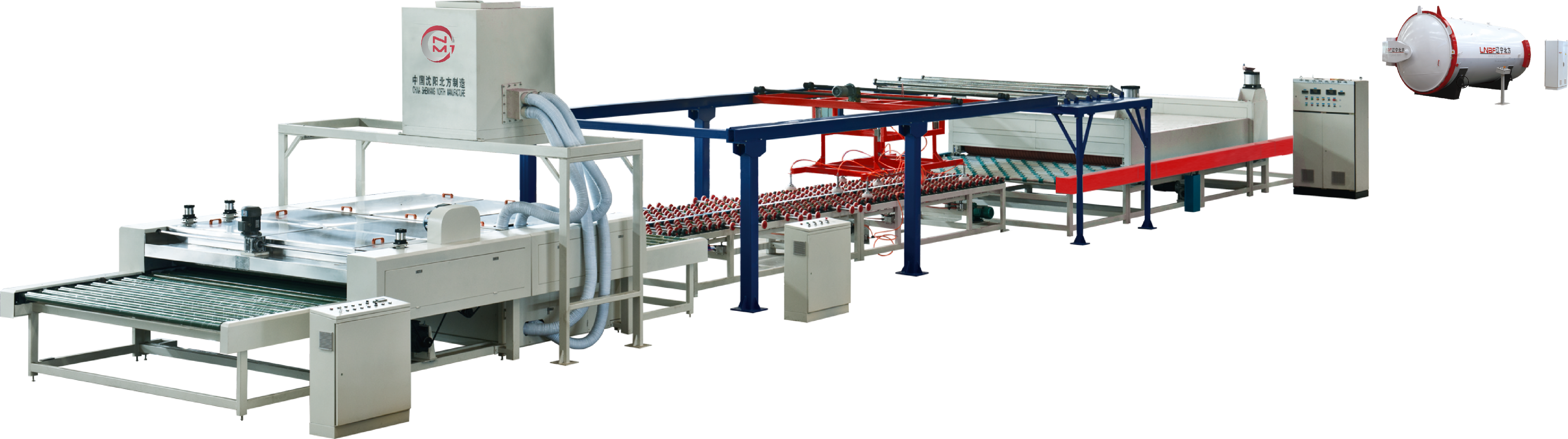 Architecture laminated glass production line